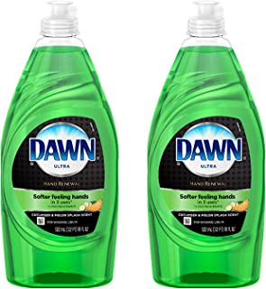 Green Dishwashing Liquid Soap - Dawn Ultra Hand Renewal Cucumber Melon Scented Dish Detergent