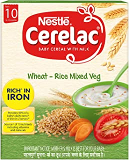 Nestle Cerelac Fortified Baby Cereal with Milk 10 Months+ Stage 3-300 g (Wheat Rice Mixed Vegetable)