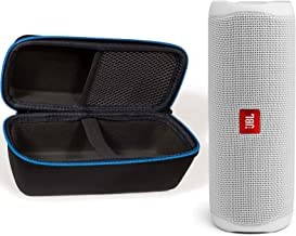 JBL Flip 5 Waterproof Portable Wireless Bluetooth Speaker Bundle with divvi! Protective Hardshell Case - White