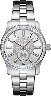 JBW Luxury Women's Celine 9 Diamonds & Baguette Cut Swarovski Crystal Bezel Watch - J6349A