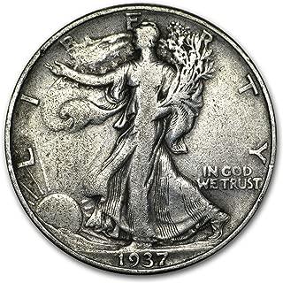 1937 D Walking Liberty Half Dollar 50c Very Fine