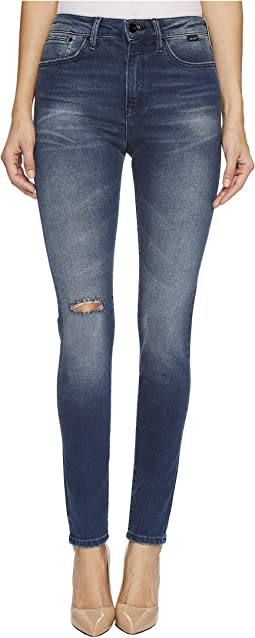 Lucy High-Rise Super Skinny in Dark Vintage Gold Icon