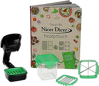 Genius Nicer Dicer Quick Set de 7 pièces + livre de recettes original I connu sous la publicité + TV I hacher directement ...