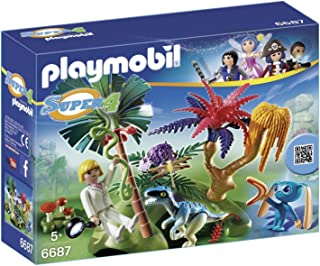 Playmobil Lost Island With Alien And Raptor 6687 Building Kit - Multi Color