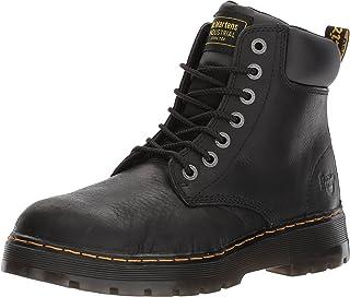 Dr. Martens Men's Winch 7-eye Lace-up Steel-toe Black Boot, 10 M UK / 11 D(M) US