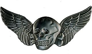 skull wings pin