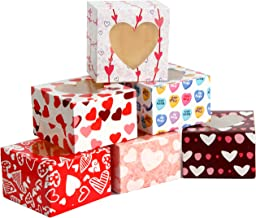 24 Valentines Day Cupcake Bakery Treat Boxes for Holiday Pastries Doughnut and Cookie Boxes, Cupcakes, Brownies, Gift Giving