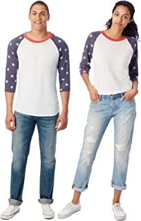star sleeve baseball tee