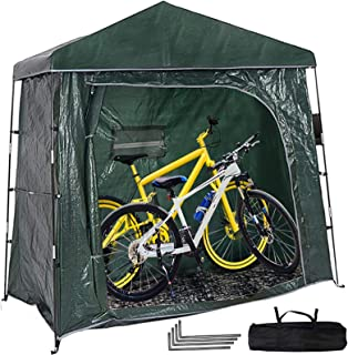 Bike Tent Storage Shed Outdoor Bicycle Cover, 2 Bikes Bike Covers,(78.8 * 39.4X75 In) Weatherproof Thick PE Material,for o...