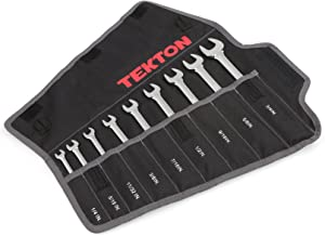 TEKTON Combination Wrench Set with Roll-up Storage Pouch, Inch, 1/4-Inch - 3/4-Inch, 9-Piece | WRN03287