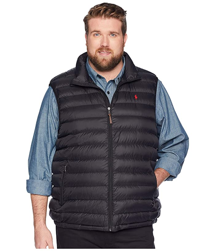 Polo Ralph Lauren Big & Tall Big Tall Lightweight Packable Down Vest (Polo Black) Men