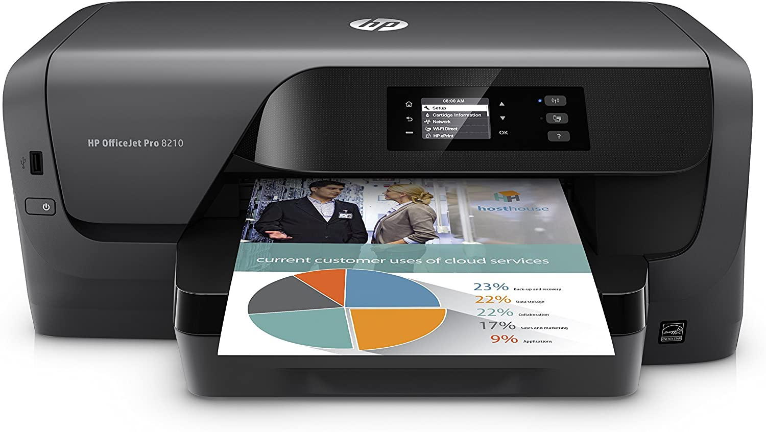 HP OfficeJet Pro 8210 Wireless Color Printer with Mobile Printing