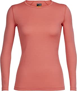 Icebreaker Merino Women's Oasis Year-Round Base Layer Long Sleeve Crew Neck Shirt, Merino Wool