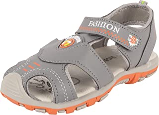 Yellow Bee Fisherman Sandals for Boys, Grey