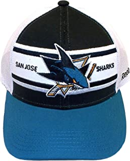 San Jose Sharks Truckers Snap Back Reebok Hat - Osfa - NZM05