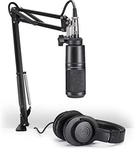 Audio-Technica AT2020PK Pack Microphone Vocal pour Streaming/Podcasting