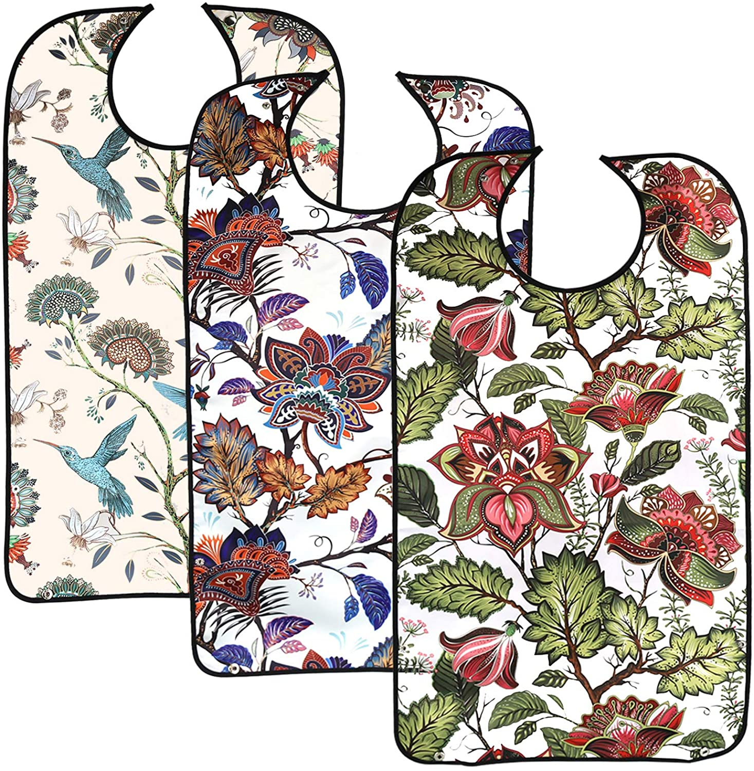 Newthinking 3 Pack Adult Bibs for Eating 55% OFF with Crumb Price reduction