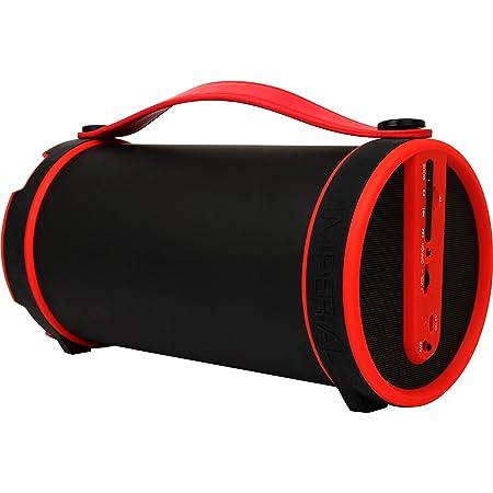Imperial Beatsman Mobiler Bluetooth Lautsprecher Mit Ukw Radio 2 1 Lautsprecher Bluetooth 2 1 Ukw Radio Microsd Kartenleser Rot Heimkino Tv Video