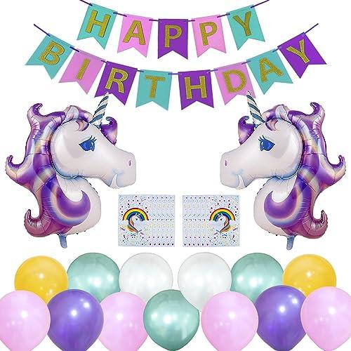 Glittered Rainbow Unicorn Banners Birthday Party Decor Wedding Christmas Gift