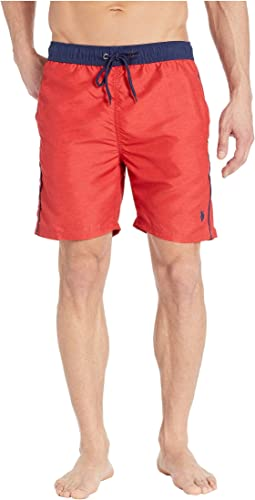 Heather Contrast Waistband Swim Shorts