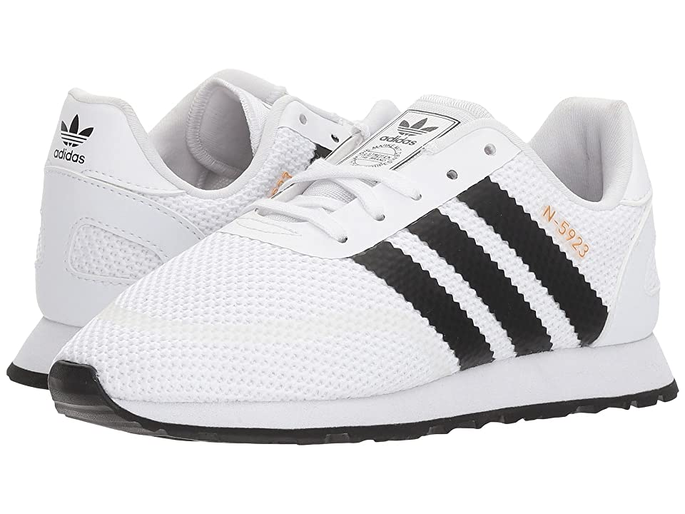 adidas Originals Kids N-5923 CLS C (Little Kid) (White/Black/White) Boys Shoes