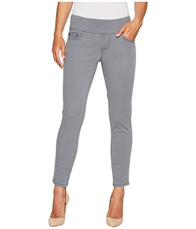 Jag Jeans Amelia Pull-On Slim Ankle Pants in Bay Twill (Grey Streak) Women