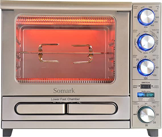 Somark Infrared Convection Rotisseries Oven with Super Fast Pizza Chamber 1500W