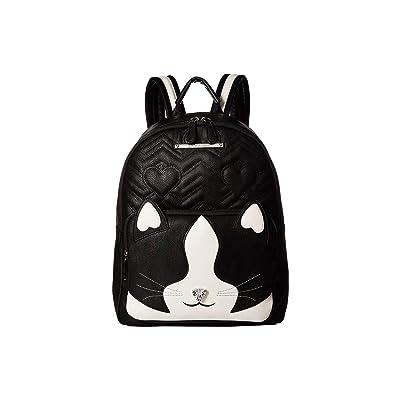 Betsey Johnson Kitsch Cat Backpack (Black/White) Backpack Bags