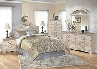 Amazing Buys Catalina Bedroom Set by Ashley Furniture - Includes Queen Bed, Dresser, Mirror, 2 Night Stands and Chest