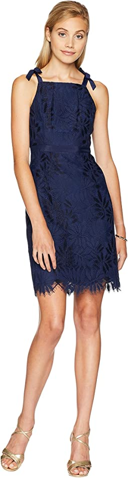 True Navy Fern Gallery Lace