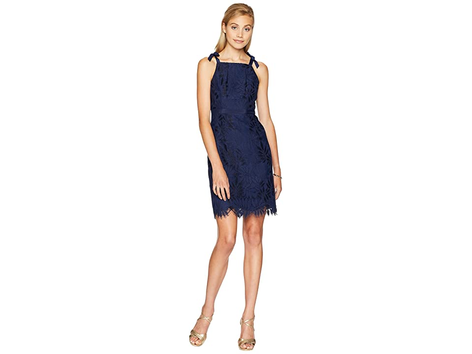 Lilly Pulitzer Kayleigh Shift Dress (True Navy Fern Gallery Lace) Women