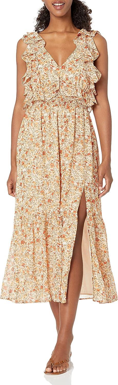 ASTR the label Women's Open Tie Back Ruffle Dress