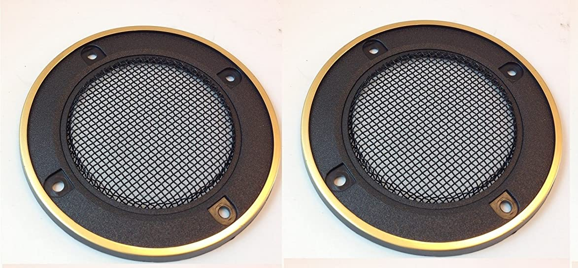 SPEAKER GRILL PLASTIC WITH GOLD TRIM (3