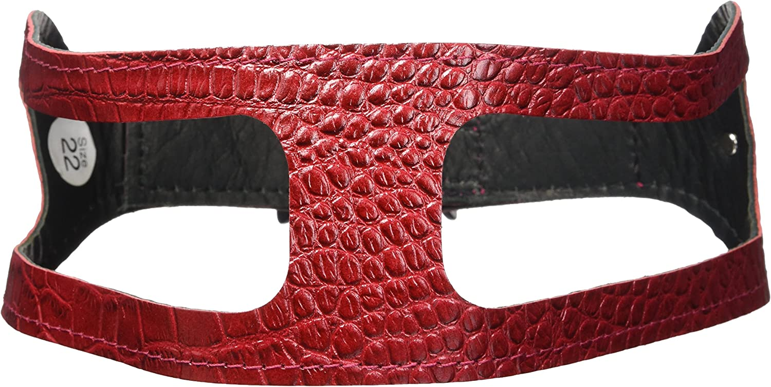ChokeFree Pet Shoulder Collar, 22 , Croco Red