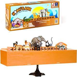 Noah's Ark Toy - Balancing Game Religious Stacking Educational Board Game with Animal Toy - 104 Piece Set