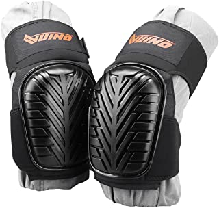 VUINO Heavy Duty Knee Pads with Comfortable Gel Cushion Adjustable Straps and EVA Foam Padding for Working, Gardning, Cleaning, Flooring, Tiling and Construction
