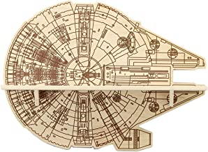 Open Road Brands Star Wars Millennium Falcon Wood Shelf- Retro Vintage Wooden Wall Hanging Shelf- Great for Man Caves, Wall Art, Home Decor and Much More