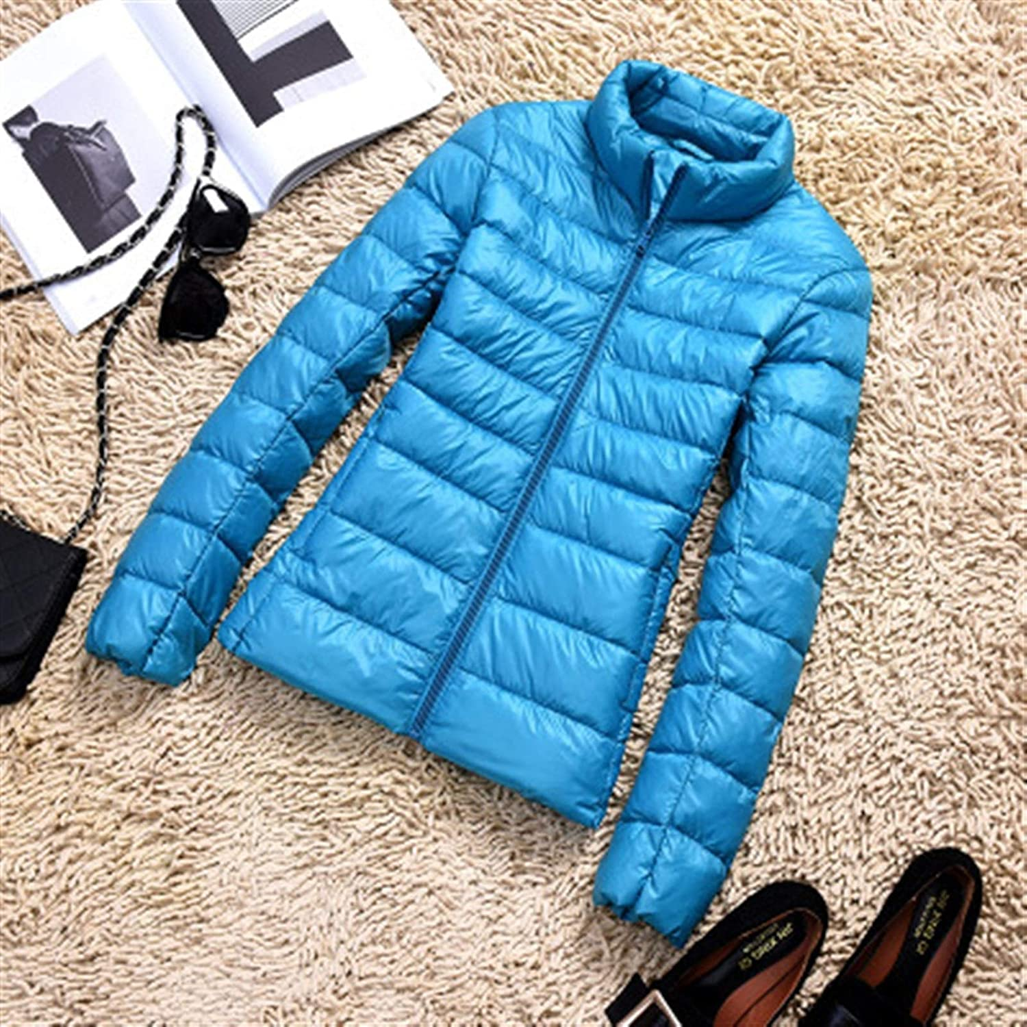 Thickened Down Jacket Leather Plaid Winter Austin Mall 9 Super beauty product restock quality top! Brand New 2019 Coat