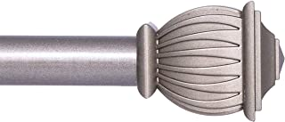 """Kenney Beckett Adjustable Curtain Rod, 48-86"""", French Pewter"""