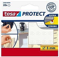 Tesa Protect geluidstopper, rond, Ø8 mm, transparant, 28 stuks