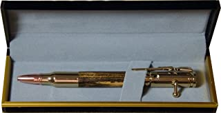 30 Caliber Bolt Action Pen 24k Gold plated with Bocote Wood