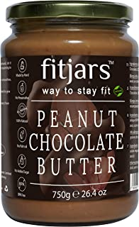 FITJARS Stone Crushed All Natural Peanut Chocolate Butter (Cocoa Powder),750 Ge