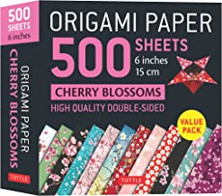 Origami Paper 500 sheets Cherry Blossoms 6 inch (15 cm): Tuttle Origami Paper: High-Quality Double-Sided Origami Sheets Pr...