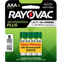 4-Count Rayovac High Capacity Rechargeable AAA Batteries