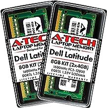 A-Tech 8GB (2 x 4GB) RAM for Dell Latitude E6530, E6430, E6430s, E6430 ATG, 6430u, E6330, E6230, E5530, E5430   DDR3/DDR3L 1600MHz PC3-12800 1.35V SODIMM Memory Upgrade Kit