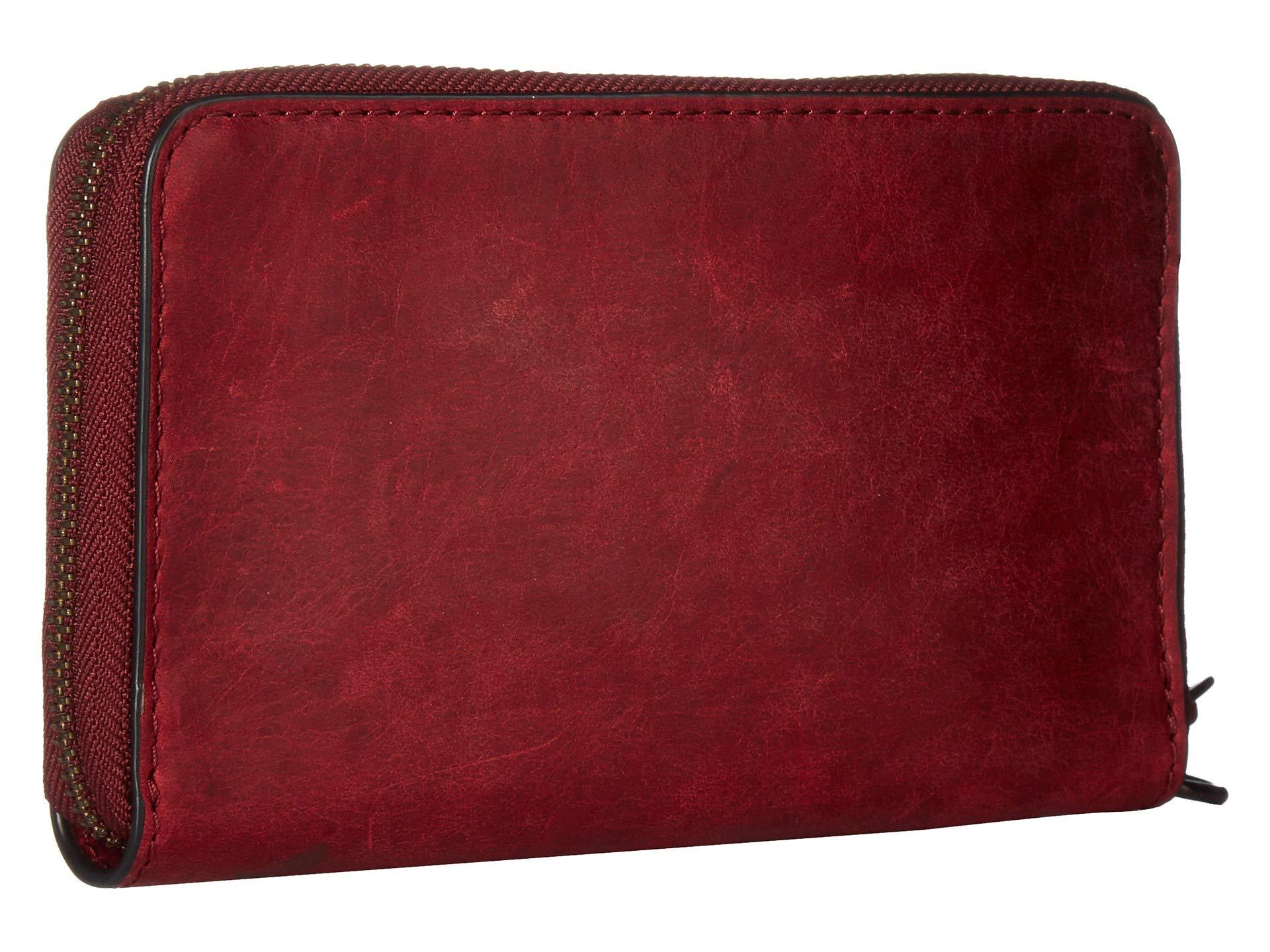Wallet Frye Large Sangria Phone Melissa Up Smooth Pull Zip qIIwvArnxP