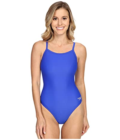 Speedo Powerflex Eco Solid Flyback One-Piece (New Sapphire) Women