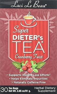 Laci Le Beau Super Dieter's Tea Cranberry Twist Caffeine Free 30 Tea Bags