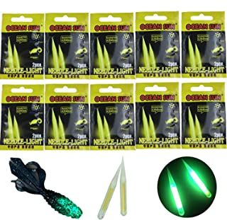 QualyQualy Fishing Glow Sticks for Soft Baits Worms Jig Tails Inserts,  Sharp Pointed Needle Light Sticks for Soft Plastic Fishing Lures, Fishing Glow Sticks 100 Pcs 20 Pcs