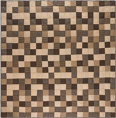 VHC Brands Primitive Bedding Prim Grove Cotton Pre-Washed King Quilt, Patchwork
